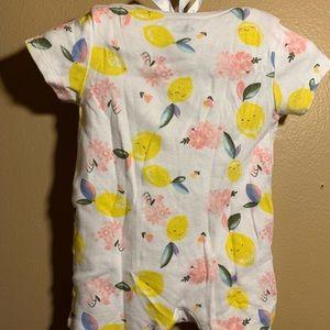 Old Navy Baby Girl Lemon print onesie size 3-6mo